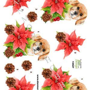 Jul/ed ark med en lille sød jule-hund/Dan-Design
