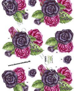 Blomster/3d ark med en buket roser/Dan-Design