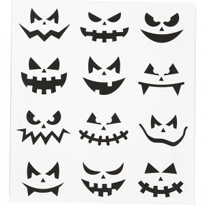 Motivstickers halloween / Små ansigter