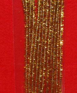 Chenille str 6 mm, 30 cm, 15 stk i guld