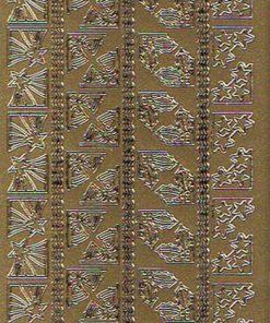 Stickers jul/Smukke hjørner i guld