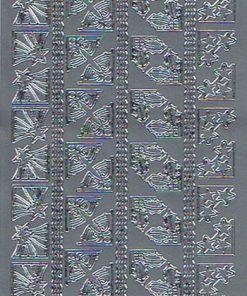 Stickers jul/Smukke hjørner i sølv