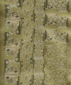 Stickers med jul/Hjørner i guld