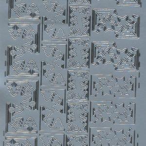 Stickers jul/Flotte hjørner i sølv