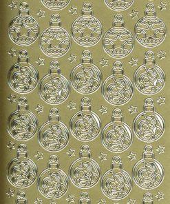 Stickers jul/Guld/Med flotte julekugler