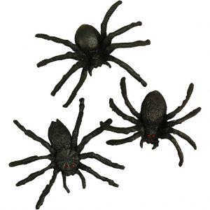 Edderkopper 10 stk. i pose, str. 4 cm