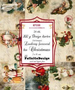 Toppers 7 x 10 cm/Felicita design karton med julemotiv