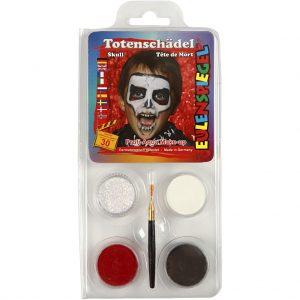 Ansigtsmaske Eulenspiegel / Sminkesæt til kranium