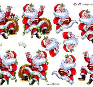 Jul / 3D ark med en sød julemand / HM Design