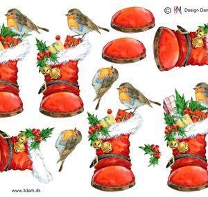Jul / 3D ark med julestøvle / HM Design