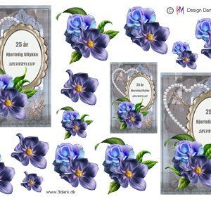 Begivenhed / Sølvbryllupstekst og blomster / HM Design