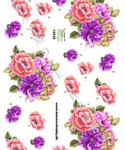 Blomster / 3D ark med smukke blomster / Dan Design