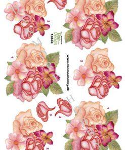Blomster/3D ark med blomster/Dan Design