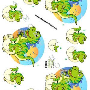 Børn / 3D ark med skønne dinosaur / Dan Design