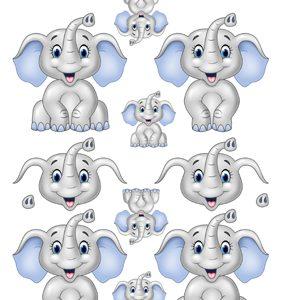 Børn / 3D ark med nuttet elefant / Quickies 3D