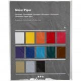 Glanspapir, ark 24 x 32 cm, Ass. farver / 50 ark