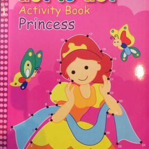 Malebog med søde prinsesser / Prik til prik