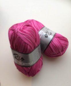 Rio-multi farvet garn 100 % bomuld / Pink
