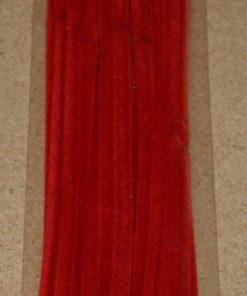 Chenille i julerød / 6 mm x 30 cm