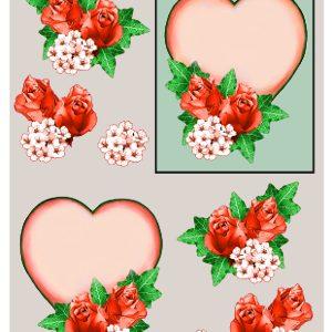 Blomster / 3D ark med hjerte og blomster / Matori