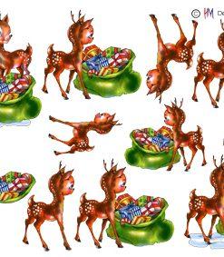 Jul / 3D ark dådyr med gaver / HM Design
