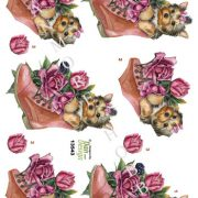 Dyr / 3D ark med hvalp i støvle / Dan Design