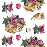 Dyr / 3D ark med killing i blomsterkurv / Dan Design