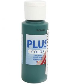 Plus color hobbymaling / mørke grøn 60 ml