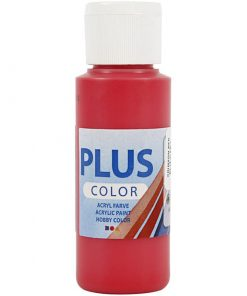 Plus color hobbymaling / Rød 60 ml