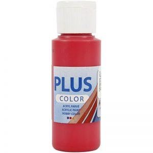Plus color hobbymaling / Rød 60 ml