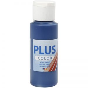 Plus color hobbymaling / Navy blå 60 ml