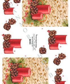 Jul / 3D ark med en smuk juledekoration / Dan-Quick