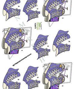 Begivenhed / 3D ark med lilla converse / Dan-Design