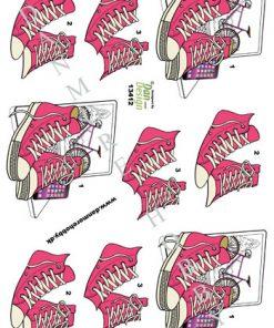 Begivenhed / 3D ark med pink converse / Dan-Design