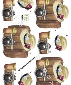 Blandet / 3D ark med rejse-ting / Dan-Design