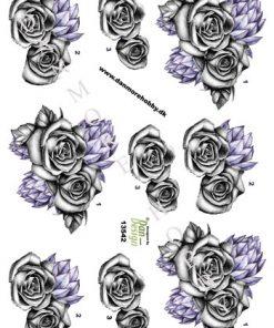 Blomster / 3D ark med smukke blomster / Dan-Design