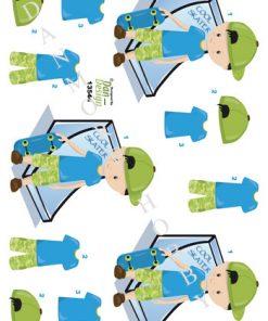 Børn / 3D ark med skater dreng / Dan-Design