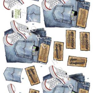 Begivenhed / 3D ark med converse og jeans / Dan-Design