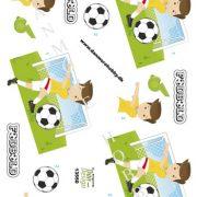 Børn / 3D ark med fodbold, dreng / Dan-Design