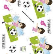 Børn / 3D ark med fodbold, pige / Dan-Design