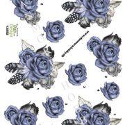 Blomster / 3D ark med smuk rosebuket / Dan-Design /