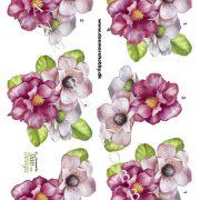 Blomster / 3D ark med blomst / Dan-Design