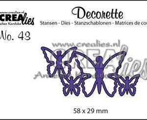 Dies Crealies Decorette CLDR 43 / Sommerfugle