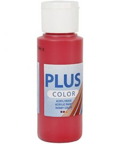 Plus color hobbymaling, bær rød / 60 ml