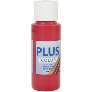 Plus color hobbymaling, bær rød / 60 ml