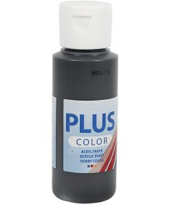 Plus color hobbymaling, sort / 60 ml