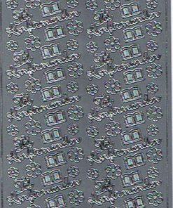 Stickers begivenhed / med tekst til konfirmanden i sølv