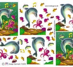 Dyr / 3D ark musikalske havdyr / HM Design
