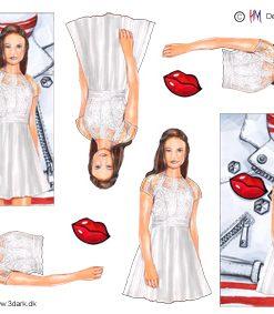 Begivenhed / 3D ark med konfirmationspige / HM Design