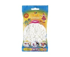 Hama midi perler i hvid / farve nr:207-01